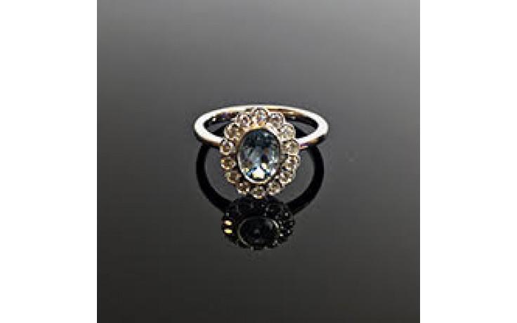Floral Aquamarine & Diamond Ring  product image 1