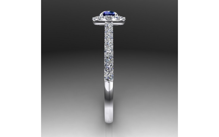 Bespoke Blue Sapphire Engagement Ring product image 1