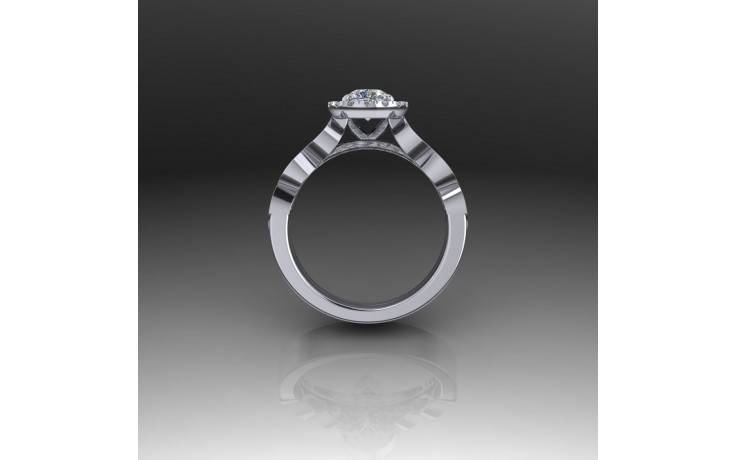 Bespoke Contemporary Diamond Engagement Ring product image 1