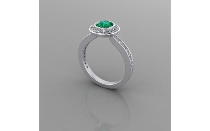 Bespoke Zambian Emerald & Diamond Engagement Ring product image 1