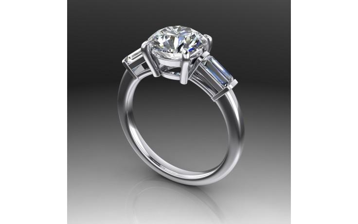 Bespoke Round Brilliant Diamond Engagement Ring product image 1