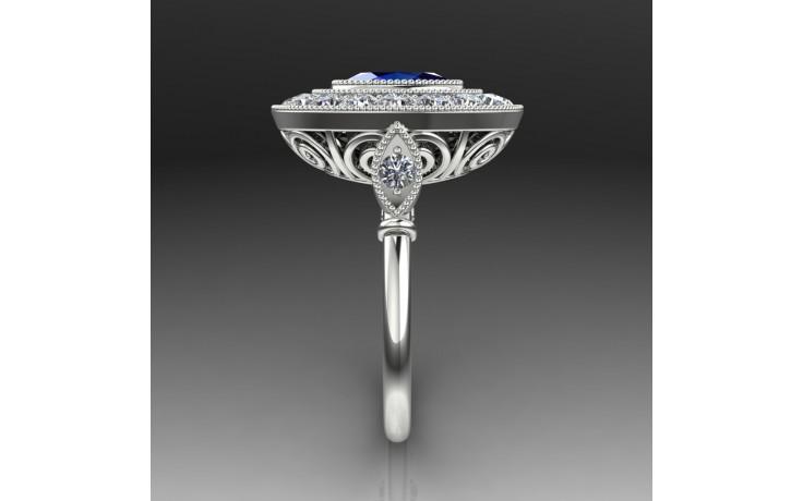 Bespoke Art Deco Blue Sapphire Engagement Ring product image 1
