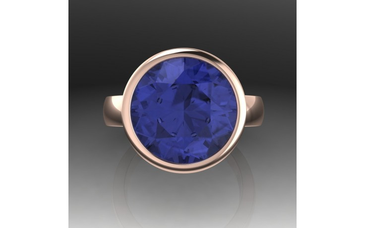 Bespoke Round Tanzanite Engagement Ring product image 1