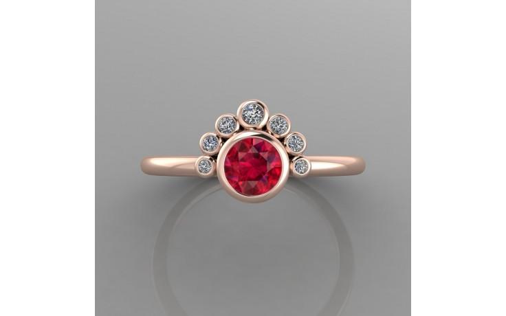 Bespoke Rose Gold Garnet & Diamond Ring product image 1
