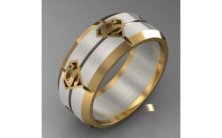 Bespoke Superman Inspired Wedding Ring product image 1