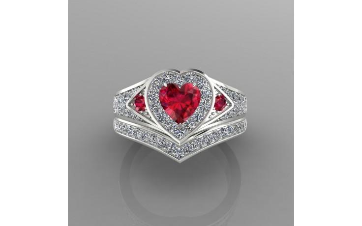 Bespoke Burmese Ruby & Diamond Bridal Set product image 1