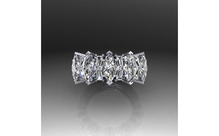 Bespoke Fancy Diamond Promise Ring  product image 1