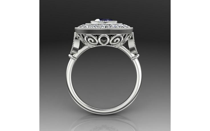 Bespoke Art Deco Sapphire Ring product image 1