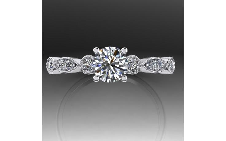Bespoke Vintage Milgrain Diamond Engagement Ring product image 1