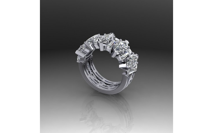 Bespoke Marquise & Baguette Diamond Ring product image 1