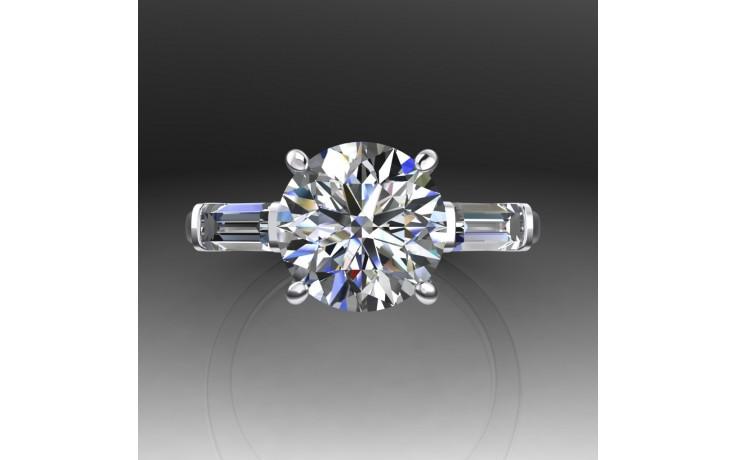Bespoke GIA Round Brilliant Diamond Engagement Ring product image 1