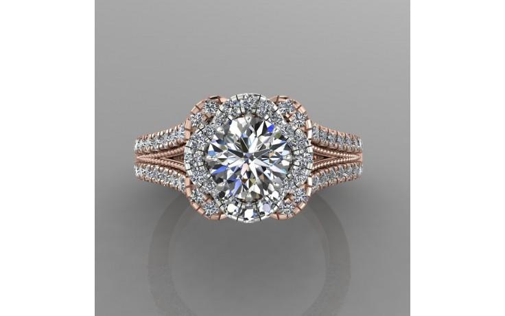 Bepsoke Two Tone Diamond Engagement Ring product image 1