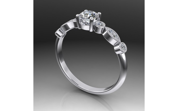 Bespoke Milgrain Diamond Ring product image 1
