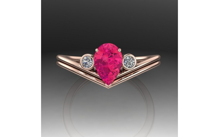 Bespoke Red Spinel Engagement Ring product image 1