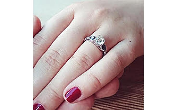 Blue Sapphire Milgrain Ring product image 1