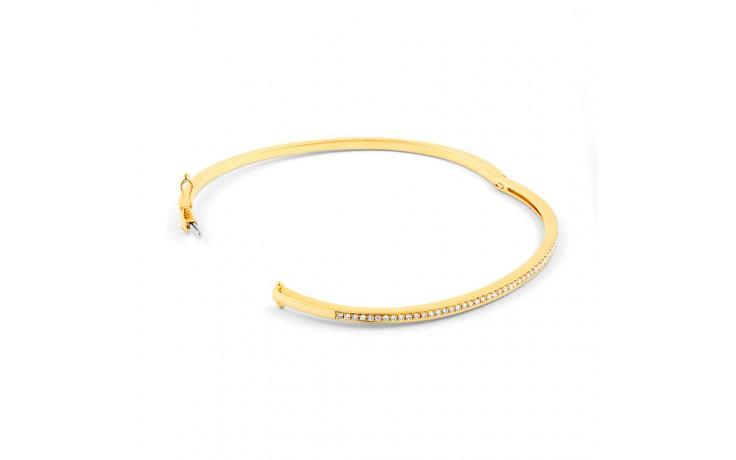 Yellow Gold Diamond Bangle product image 2