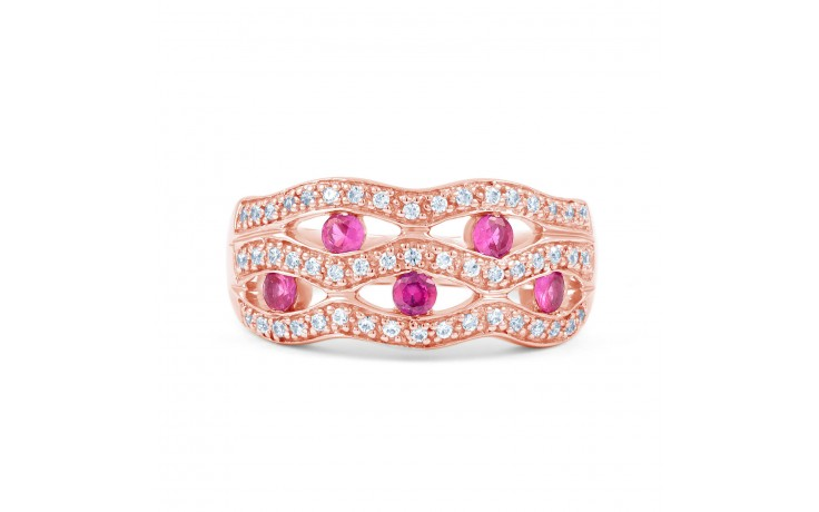 Art Deco Pink Sapphire Ring product image 1