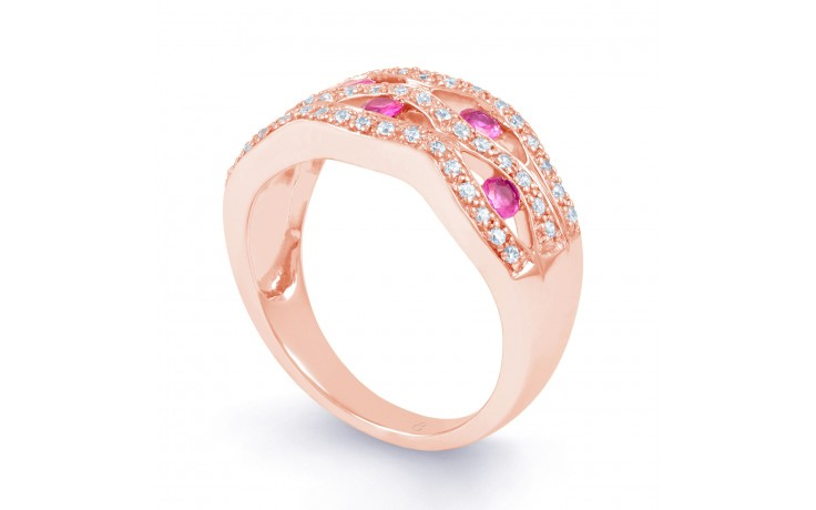 Art Deco Pink Sapphire Ring product image 2