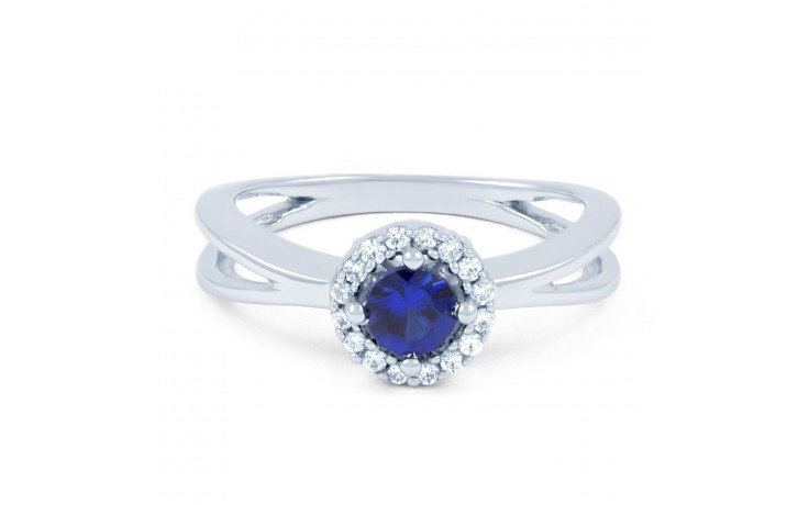 Crossover Blue Sapphire Ring product image 2