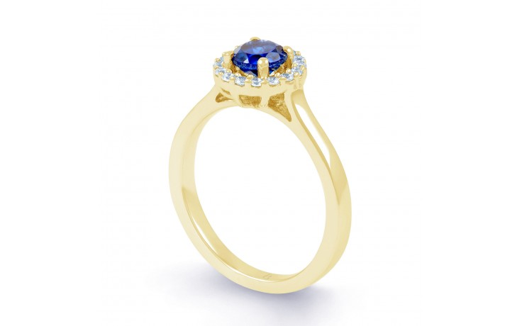 Round Blue Sapphire Ring product image 2