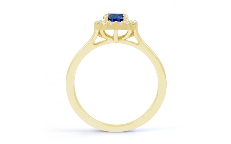Round Blue Sapphire Ring product image 3