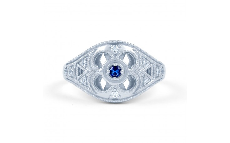 Art Deco Blue Sapphire Ring product image 1