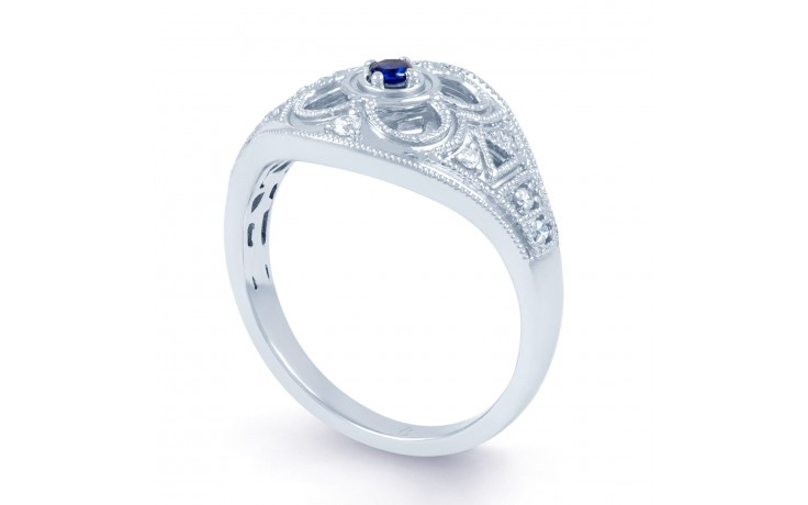 Art Deco Blue Sapphire Ring product image 2