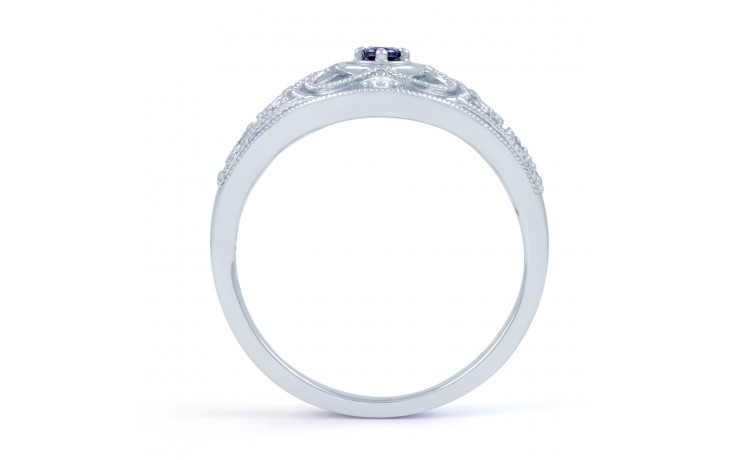 Art Deco Blue Sapphire Ring product image 3