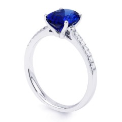Arya Tanzanite Ring Single Stone 18ct White Gold image 1