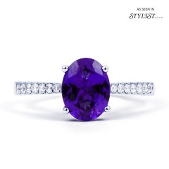 Arya Tanzanite Ring Single Stone 18ct White Gold image 0
