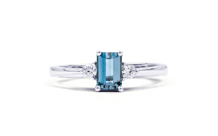 Anya Aquamarine Ring In White Gold product image 1
