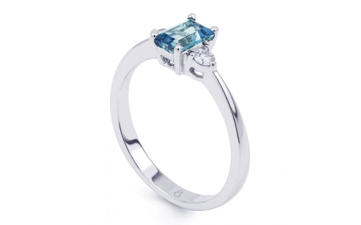 Anya Aquamarine Ring In White Gold product image 2