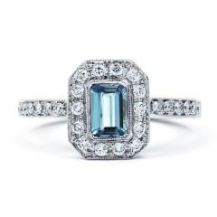 Vero Aquamarine Ring in White Gold  image 0