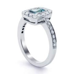 Vero Aquamarine Ring in White Gold  image 1