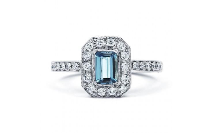 Vero Aquamarine Ring In White Gold product image 1