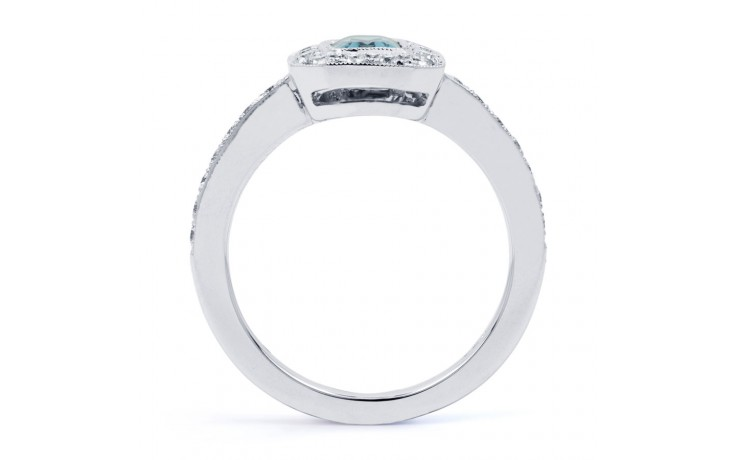 Vero Aquamarine Ring In White Gold product image 3