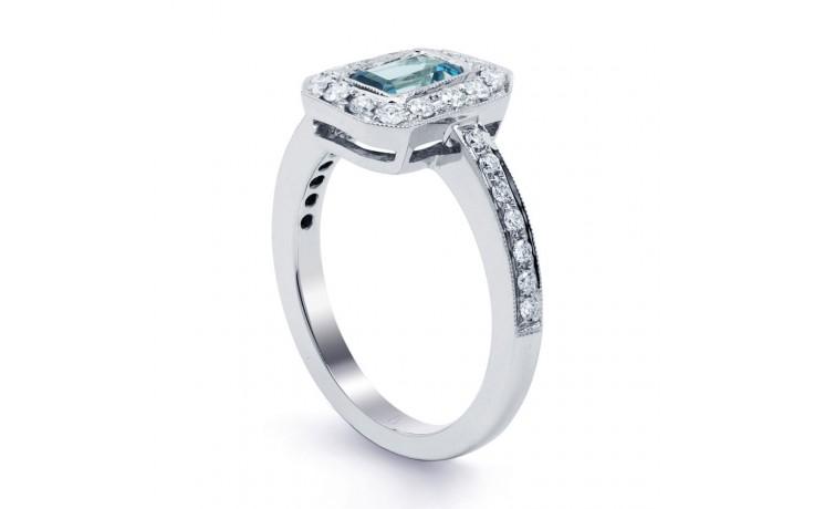 Vero Aquamarine Ring In White Gold product image 2