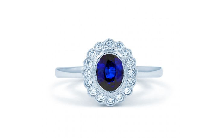 Rococo Blue Sapphire Ring product image 1