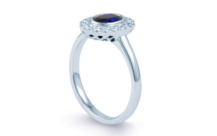 Rococo Blue Sapphire Ring product image 2