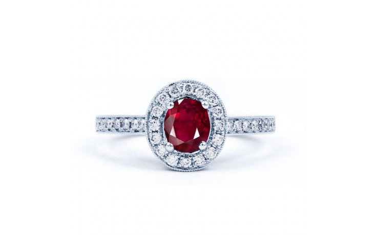 Vintage Ruby Halo Ring product image 1