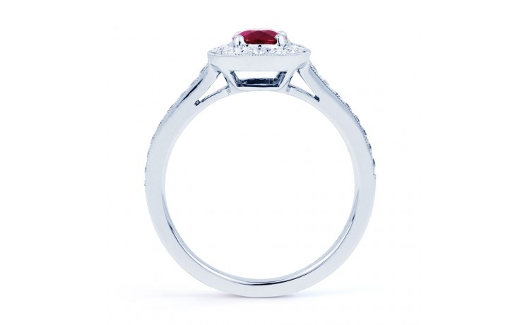 Vintage Ruby Halo Ring product image 3