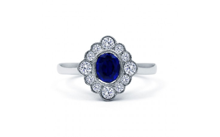 Rococo Vintage Blue Sapphire Ring product image 1