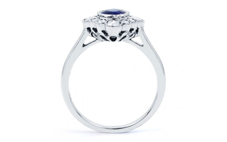 Rococo Vintage Blue Sapphire Ring product image 3