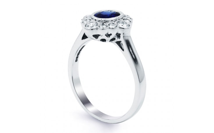 Rococo Vintage Blue Sapphire Ring product image 2