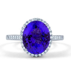 Tanzanite Full Moon Ring  image 0