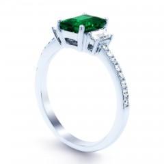 Zambian Emerald Engagement Ring image 1