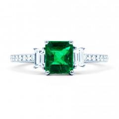 Zambian Emerald Engagement Ring image 0