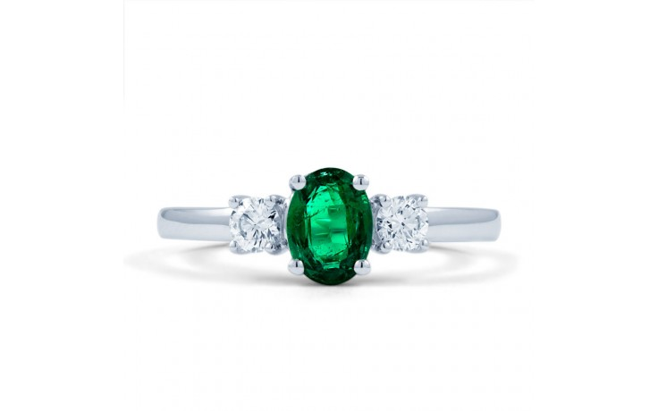 Zambian Emerald 3 Stone Ring product image 1