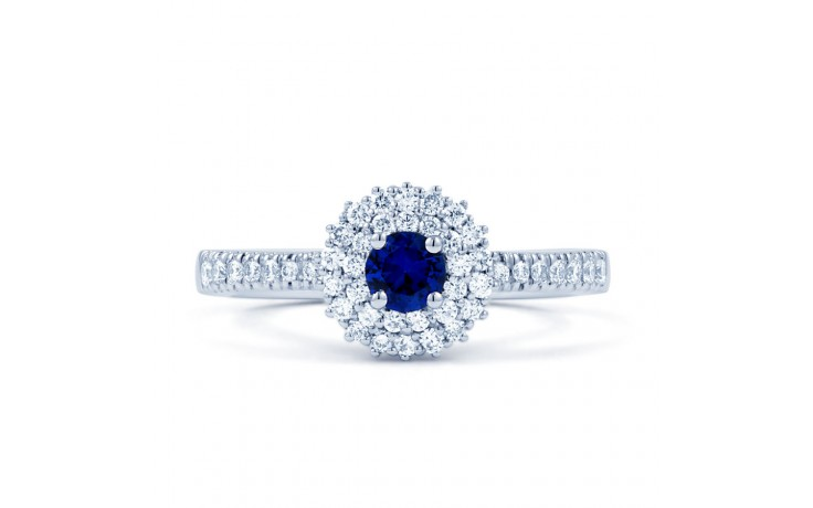 Double Halo Blue Sapphire Ring product image 1