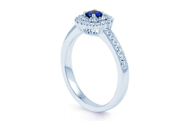 Double Halo Blue Sapphire Ring product image 2